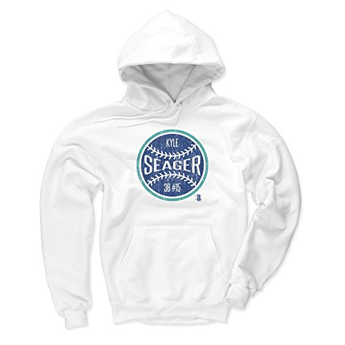 500 LEVEL Seattle Mariners Men's Hoodie - XXX-Large White - Kyle Seager Ball ()