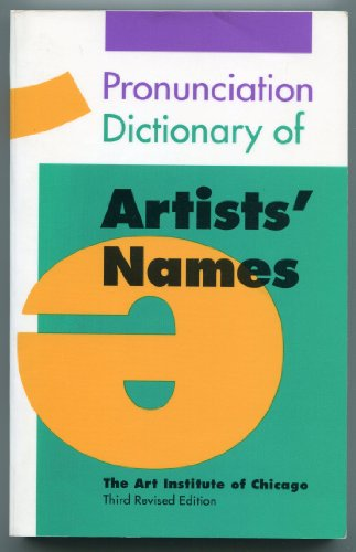 Pronunciation Dictionary of Artists' Names