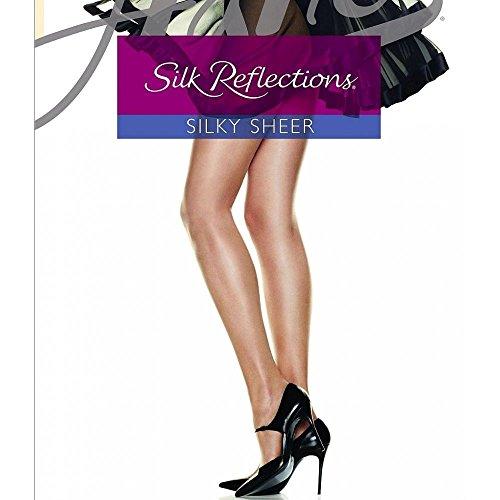 牛予備バナナ(ヘインズ) Hanes レディース インナー?下着 タイツ?ストッキング Silk Reflections Control Top Reinforced-Toe Hosiery [並行輸入品]