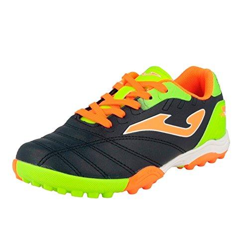 Joma Toledo JR - Zapatillas de fútbol sala, Niño, Azul / Naranja / Verde, 35