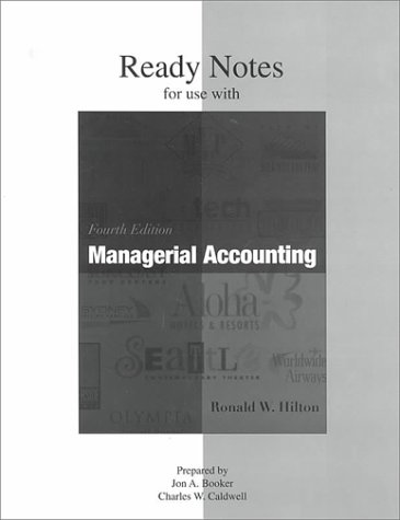 Ready Notes for use with Managerial Accounting