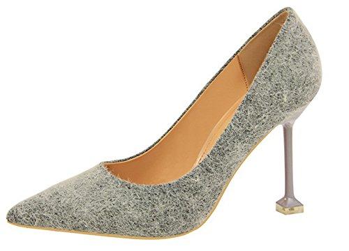 Escarpins Aisun Mode Nouveau Femme On Style Gris Slip wRqv7Fw