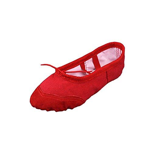 Lisianthus002 - Zapatillas de danza de Lona para niña Rojo - rojo