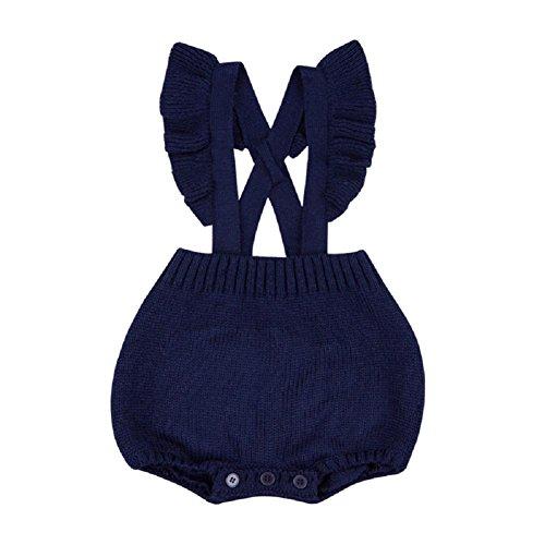 QUICKLYLY Mameluco Crochet Punto Recién Bebé Niñas Niños Elástico Peleles  ... a4a302e988f