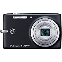 GE E1450W-BK 14.1MP Digital Camera with 5X Optical Zoom and 2.7-Inch LCD with Auto Brightness (Black)