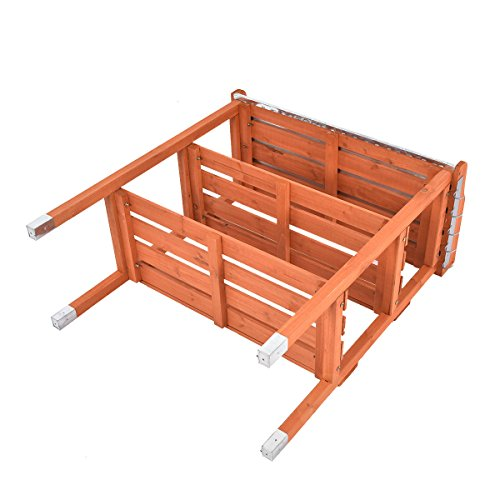 Heaven Tvcz Potting Bench Work Station Table Tool Storage Station Patio Shelf Garden Work Wooden Hook Outdoor by Heaven Tvcz (Image #7)