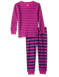 Amazon Essentials Baby Girls Long-Sleeve Tight-fit 2-Piece Pajama Set