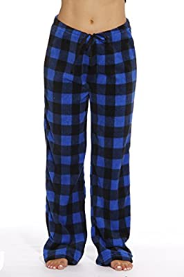 Just Love Women's Buffalo Plaid Plush Check Pajama Pants