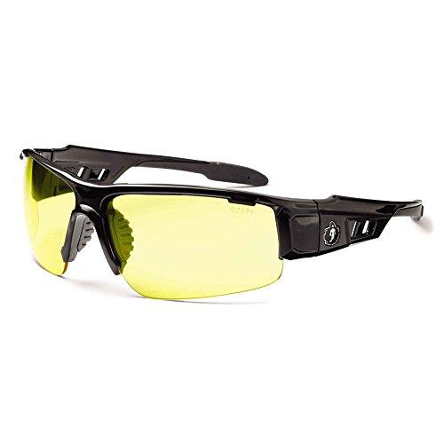 Ergodyne Skullerz Dagr Safety Glasses - Black Frame, Yellow Lens
