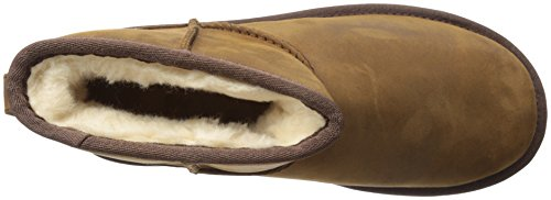 para Mujer UGG Zapatillas Leather Marrón Australia Altas Classic Chestnut Mini 0Oxq70Y