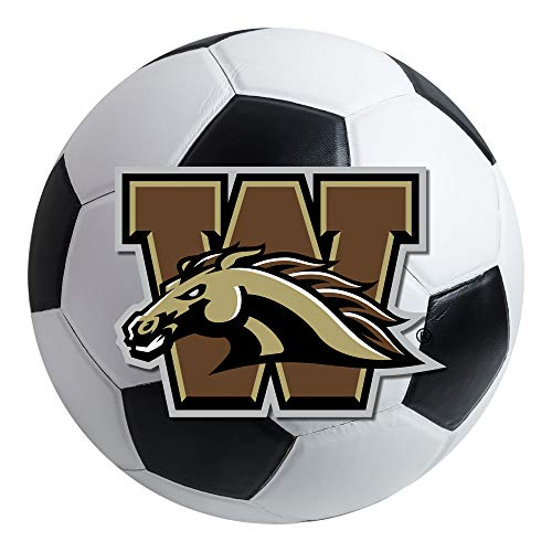 FANMATS NCAA Western Michigan University Broncos Nylon Face Soccer Ball Rug (Ball Michigan Soccer University)