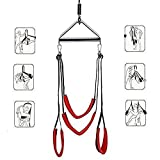 Lycwsd001 Adult Indoor Swing Hanging On Swing Sêx with Strong Nylon for Couples-Holding Weight Up to 800 Lbs - Red Durable lycwsd001
