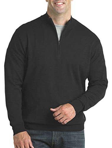 Harbor Bay by DXL Big and Tall Quarter-Zip Mock Sweater (Zip Quarter Sweater Mock)