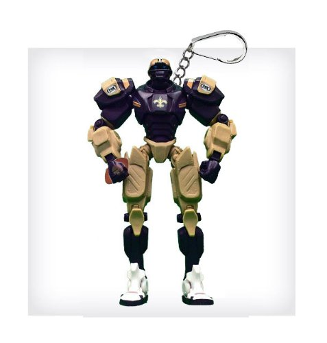"New Orleans Saints 3"" Team Cleatus FOX Robot NFL Football Key Chain Version 2.0"