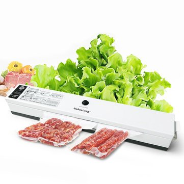 Black Household Food Vacuum Sealer Packaging Machine 110V 220V Film Seal Ring Sealer Vacuum Packer 15 Pcs bags Vacuum Sealer - Kitchen Electric Appliance Vacuum Sealer - (220V UK Plug) -