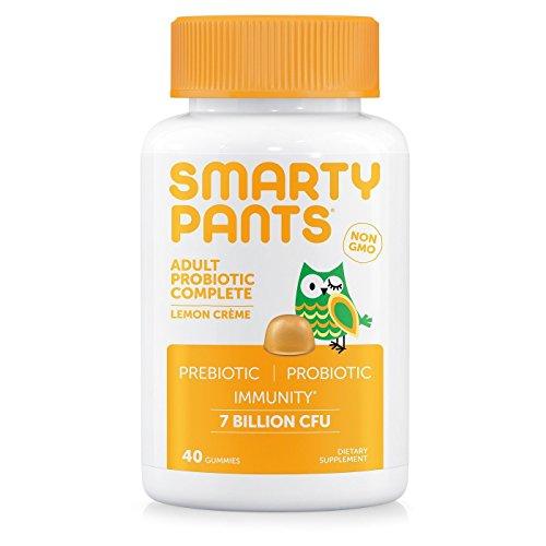 SmartyPants Gummy Vitamins Adult Probiotic Complete Vitamins, Lemon Creme, 40 Count