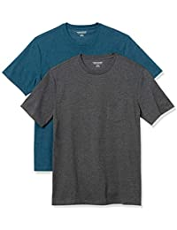 Men's 2-Pack Slim-Fit Short-Sleeve Crewneck Pocket T-Shirt