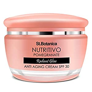 StBotanica Nutritivo Pomegranate Radiant Glow Anti Aging Cream Spf 30-24hrs Hydration For Plumped and Glowing Skin, No…