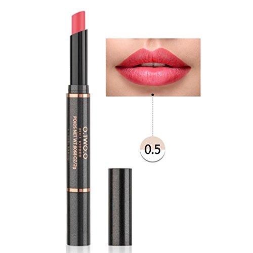 SMYTShop Women's Professional Double Head Long Lasting Matte Lipstick Lipliner Waterproof Lip Liner Pencil Lip Gloss Pen (05)