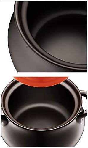 Casserole haute température Casserole en céramique Multifonctionnel,Casserole Casserole Ménage Haute Résistance Céramique Pot Gaz/Gaz Poêle-6.0L