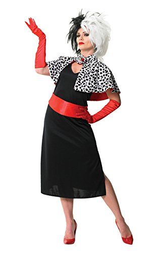 Adult Ladies Cruella De Ville Costume (Disney Villain Costume)