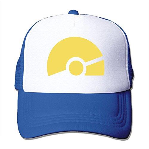 Adjustable Hats Pokemon Go Cosplay Girl Trainer Snapback Baseball Mesh Caps RoyalBlue