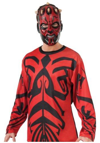 [Rubies Mens Top Mask The Phantom Menace Darth Maul Star Wars Costume, Large (42-44)] (Cheap Star Wars Shirts)