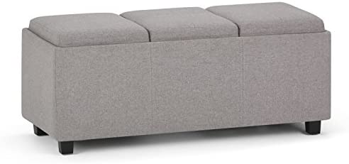SIMPLIHOME Avalon 42 inch Wide Rectangle Storage Ottoman