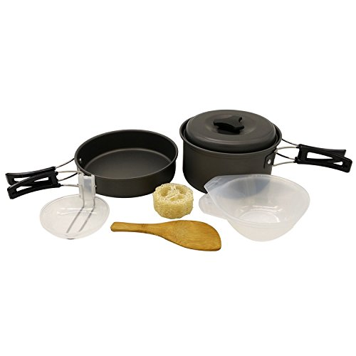 Aluminum Outdoor Portable Cookers Camping Pots Set For 1-2 Peoples - 9
