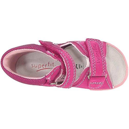 Superfit ROCKY - Zapatos primeros pasos de piel para niño rosa 63º