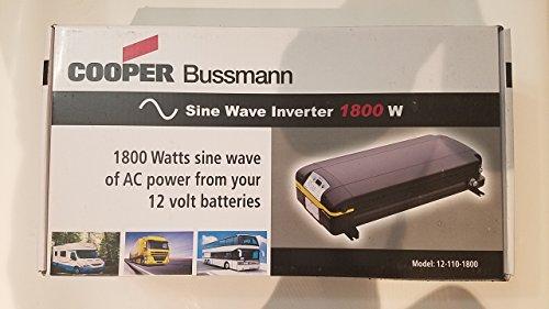 Professional Automotive Pure True Sine Wave Power Inverter Eaton Cooper Bussmann AC Power 1800 watt Converter DC 12v to AC 110v from Eaton Cooper Bussmann