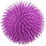"""Curious Minds Busy Bags Solid Color Jumbo 9"""" Puffer Ball - Sensory Fidget and Stress Balls - OT Autism SPD (Solid Purple)"""