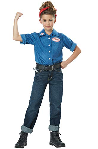 Rosie The Riveter - Child Costume Blue -