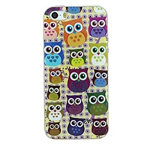 GJY Various Owls Pattern TPU Material Soft Back Cover Case for iPhone 5/5S