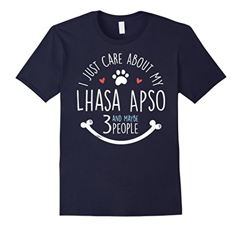 Mens I Just Care About My Lhasa Apso T-Shirt 2XL Navy