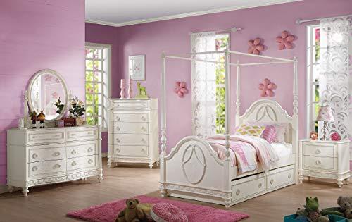 Furniture Bedroom Sets Girls (Acme Furniture AC-30355F Bed, Ivory)