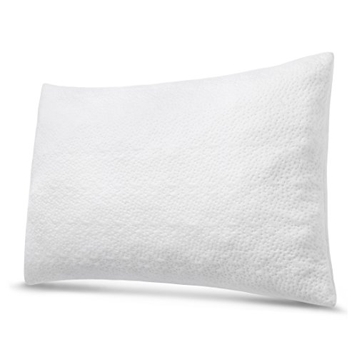 Pillow for Sleeping - Shredded Memory Foam Bedding Pillow for Neck Pain Sleeper with Washable Bamboo Breathable Cover