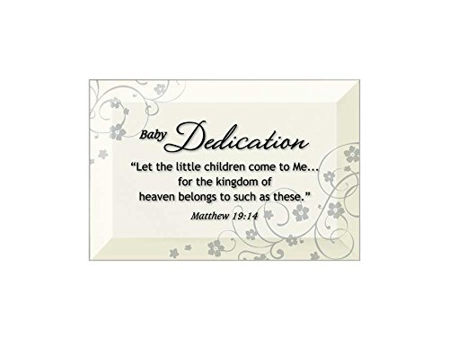 Glass Plaque Beveled (Baby Dedication Beveled Glass Plaque with Easel)