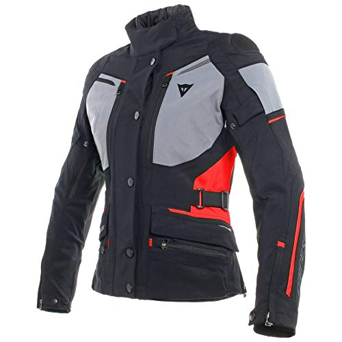 Dainese Carve Master 2 Gore-Tex Women's Street Motorcycle Jackets - Black/Frost-Gray/Red / 42