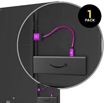 Cable Cargador Trenzado EXINOZ® diseñado para Fire TV Streaming Stick | Conéctelo y Disfrute de la transmisión Directamente Desde el Puerto USB del televisor | 20 cm: Amazon.es: Electrónica