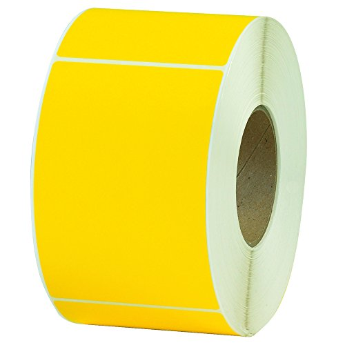 Aviditi THL130YW Thermal Transfer Labels, 4'' x 6'', Yellow, 1000 Labels per Roll (Pack of 4 Rolls) by Aviditi