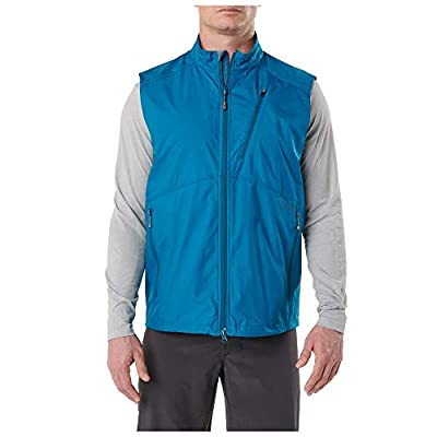 5.11 Tactical Men's Cascadia Windbreaker Packable Vest, 100% Polyester DWR Finish, Style 80024
