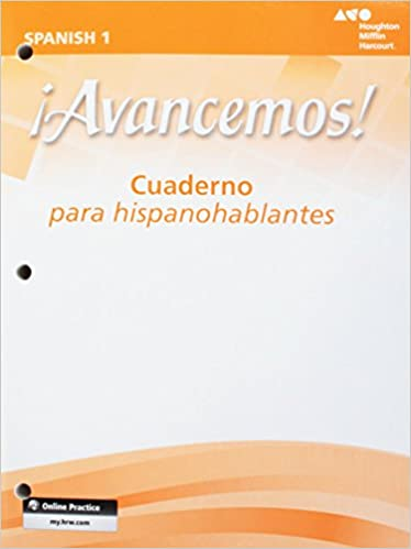 Avancemos Cuaderno Para Hispanohablantes Student Level 1