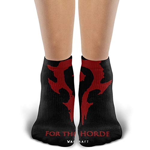 Crew Novelty Cotton Socks, For The Horde Warcraft, Running Cycling Athletic Casual Ankle Cozy Funny Socks