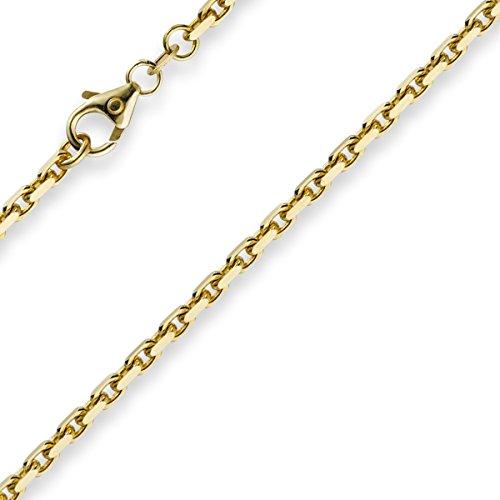 2,5mm Chaîne Collier ancre chaîne en or jaune 750Unisexe Doré 50cm