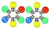 Syska 1 Watt Unbreakable LED Bulb (Multicolour Pack of 12, B22 Base)