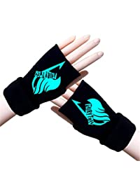 Gumstyle Fairy Tail Winter Fingerless Gloves Cosplay Arm Warmers Luminous