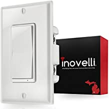 Z-Wave Switch (On/Off) + Built-In Z-Wave Repeater (zwave plus) | In-Wall Light Switch (Paddle) works with Samsung SmartThings & Wink Hub | Easy 3 & 4-Way Solution (No Add-On Needed) | Inovelli