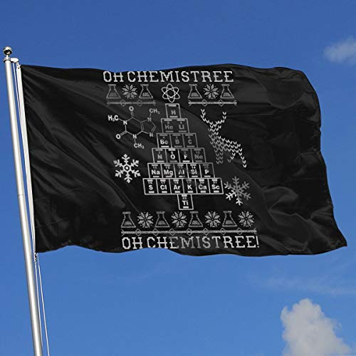 Seasonal Flag for Outdoors, Oh Chemistree, Oh Chemistree! Ugly Christmas Chemistry Decoration | Durable, Polyester]()