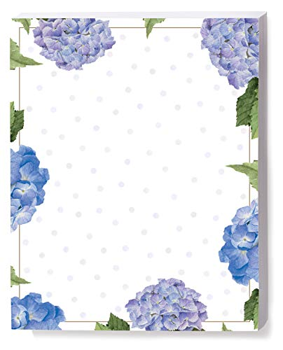 (Hydrangeas and Dots Border Papers, 8.5 x 11 Inch, 28lb Stock, 100)